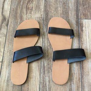 J.Crew black sandals